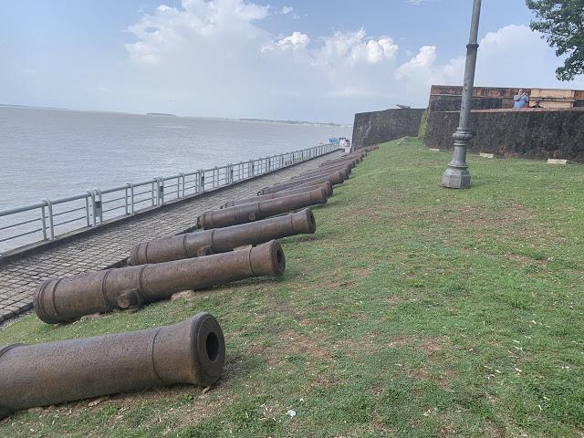 Canhões do Forte do Castelo (Foto: Rogério Almeida)