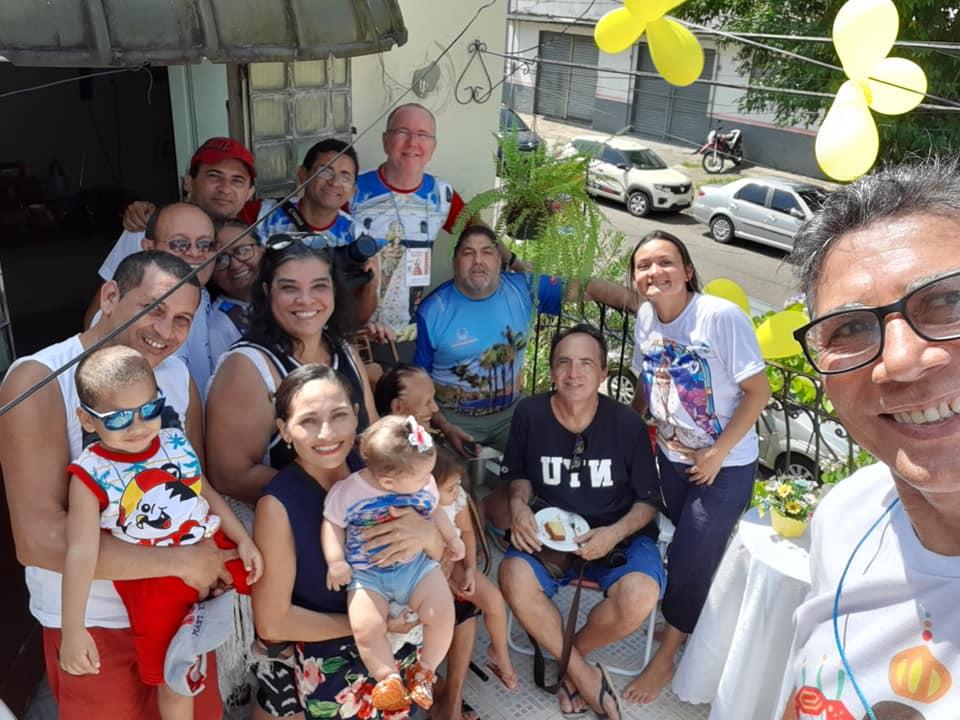 Café da manhã com jornalistas e fotógrafos do Rio de Janeiro, Paraíba e Maranhão para acompanhar o Círio Fluvial de Belém