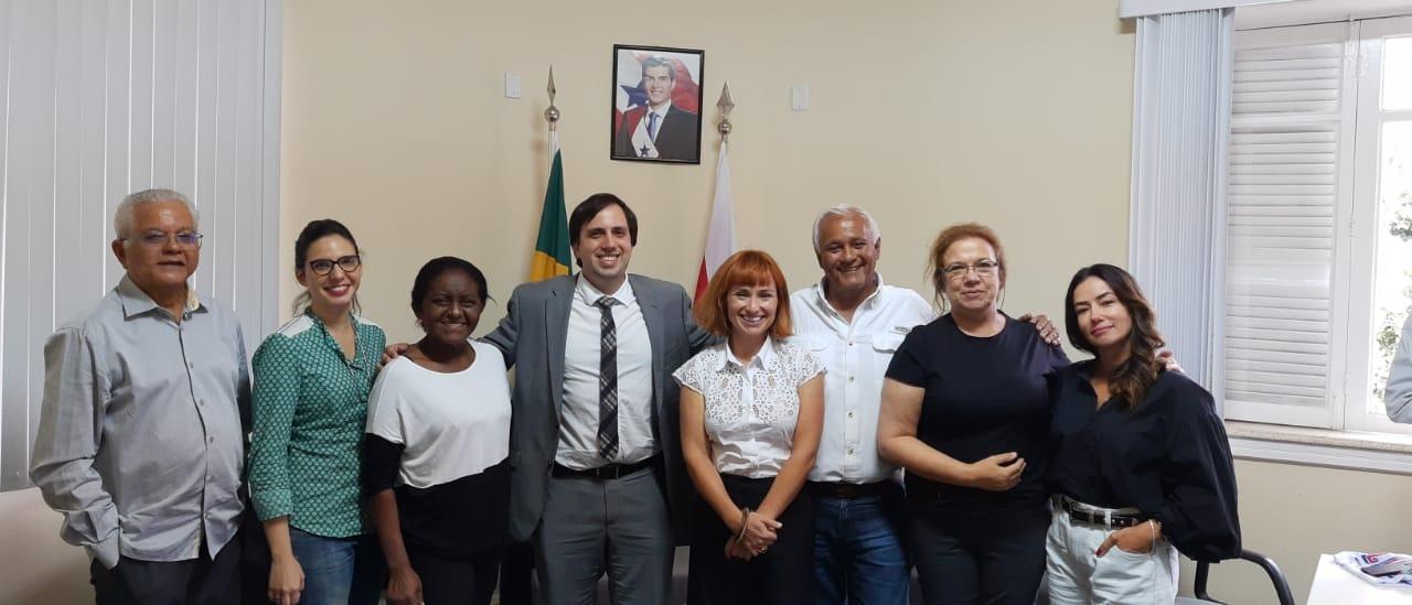 João Ramid com as fotógrafas portuguesas, com o Secretário de Turismo do Pará, André Dias.